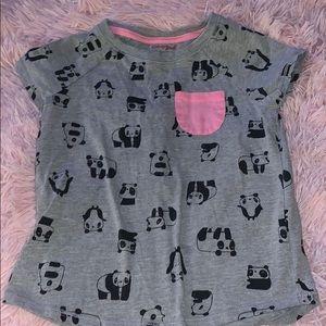 Cat & Jack Panda tshirt size 6-6x